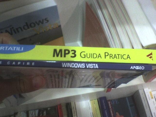 Confronto tra un libro sugli MP3 e uno si Vista